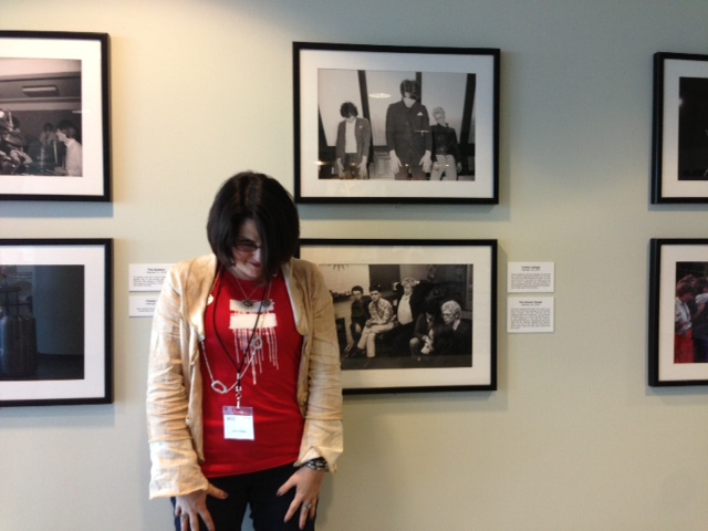 Me striking the same pose as members of U2 in this photo at the Rock and Roll Hall of Fame